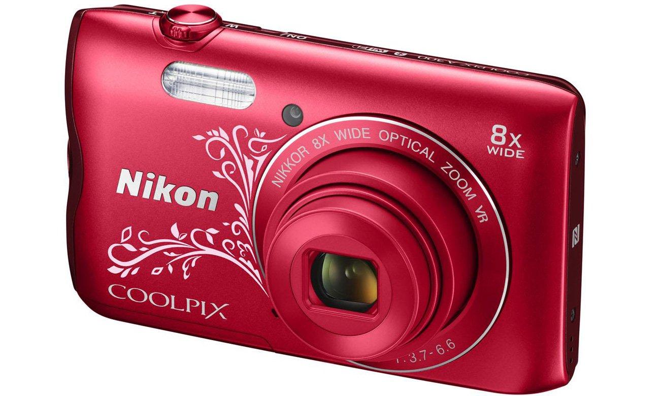 Aparat kompaktowy Nikon Coolpix A300 rzut izometryczny