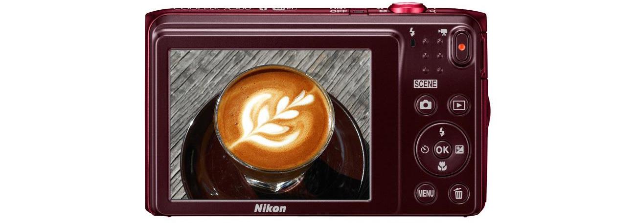Aparat kompaktowy Nikon Coolpix A300 tył ekran LCD