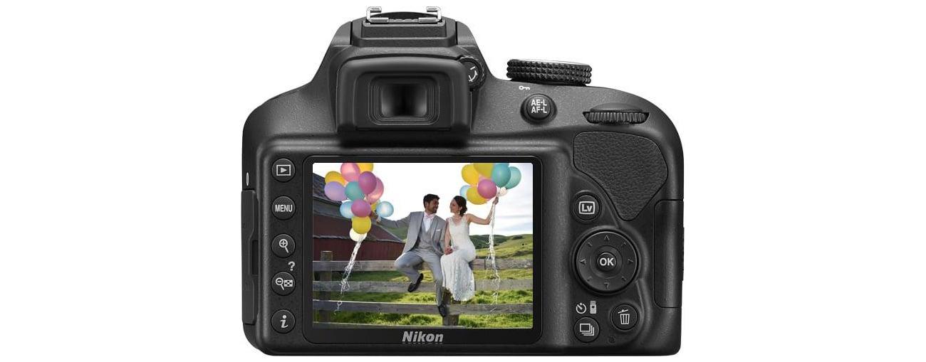 Lustrzanka Nikon D3400 ekran LCD