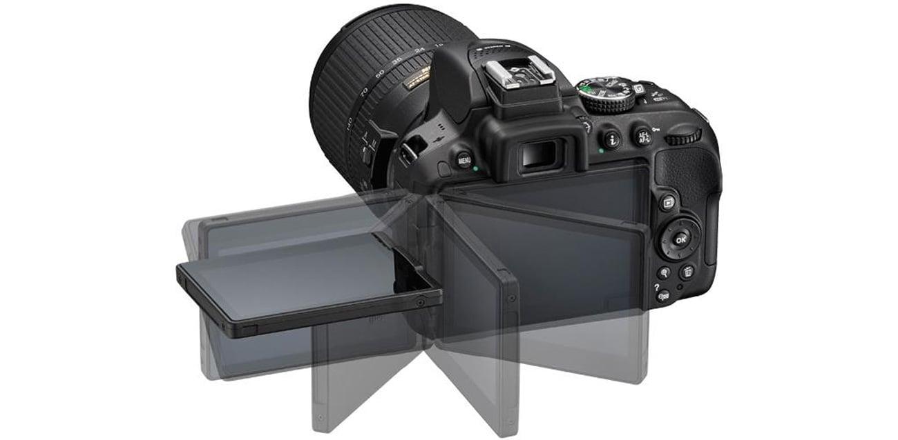 Nikon D5300 czarny + 18-105VR ruchomy wyświetlacz