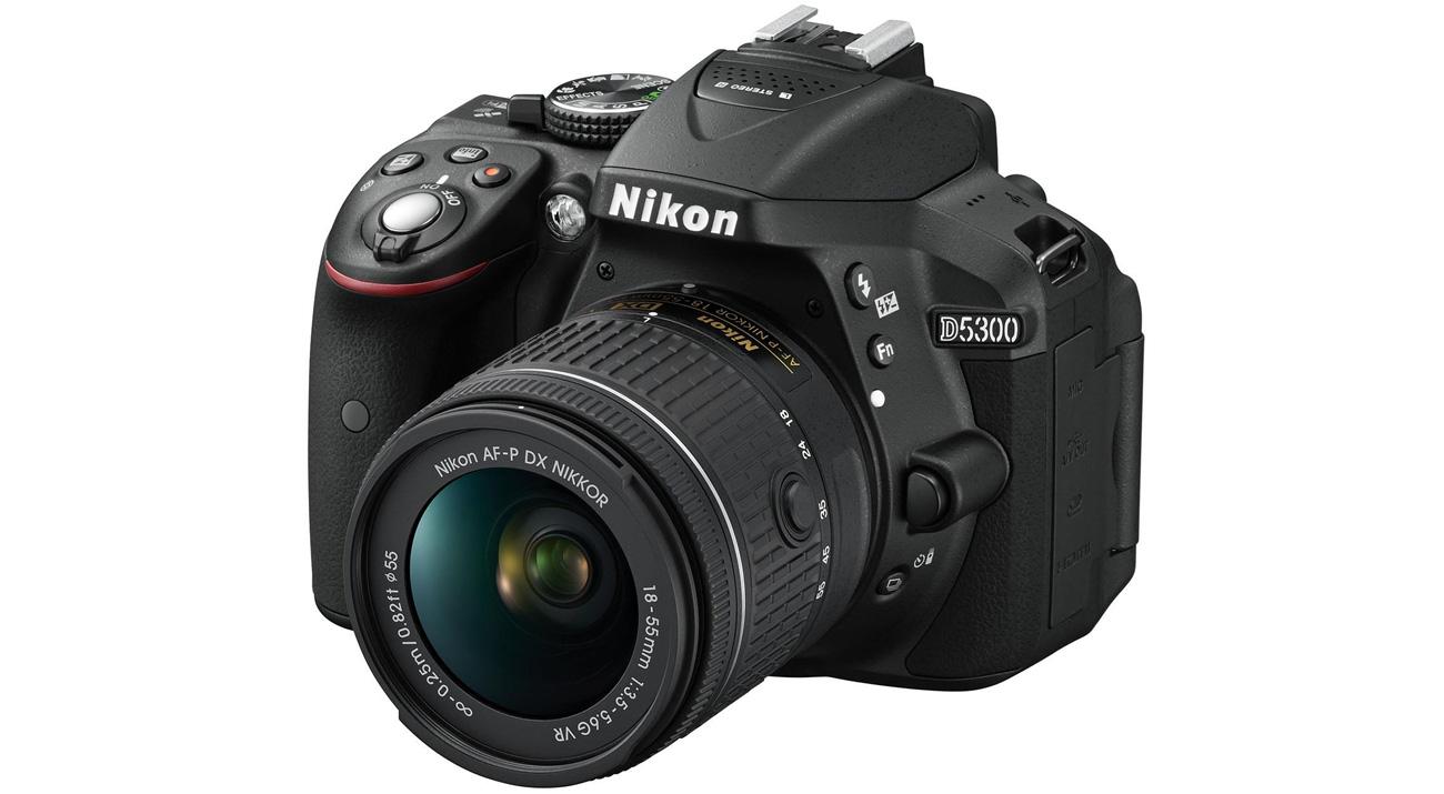Lustrzanka Nikon D5300 + AF-P 18-55 VR VBA370K007