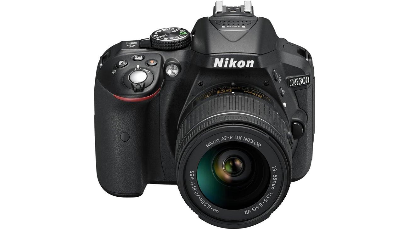 Nikon D5300 + AF-P z obiektywem 18-55 VR