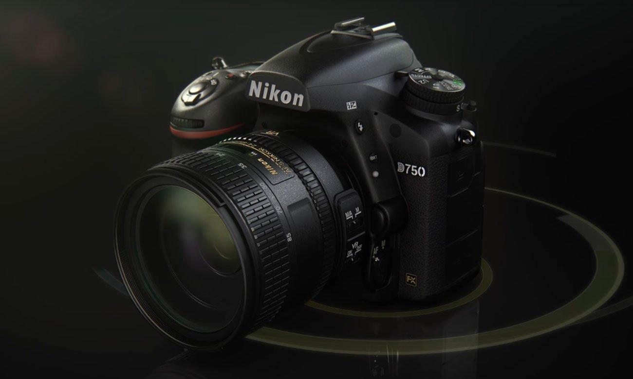 Nikon D750 body na czarnym tle