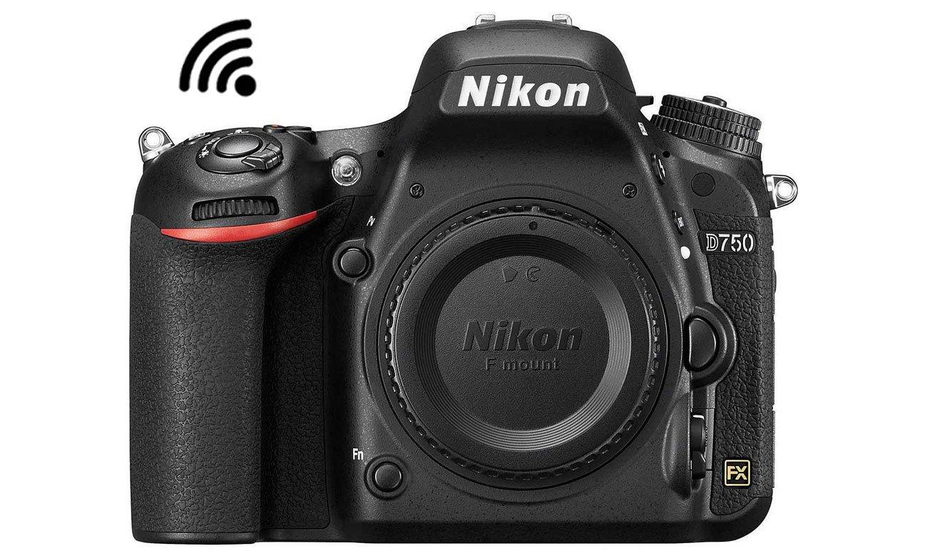 Nikon D750 body widok z przodu lacznosc WiFi