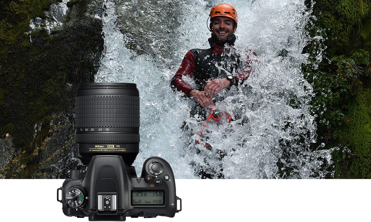 Nikon D7500 AF S DX 18 105 Człowiek w wodzie