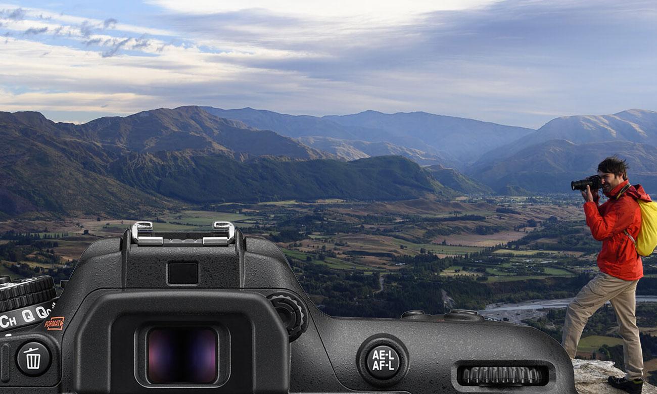 Nikon D7500 AF S DX 18 105 Wizjer optyczny
