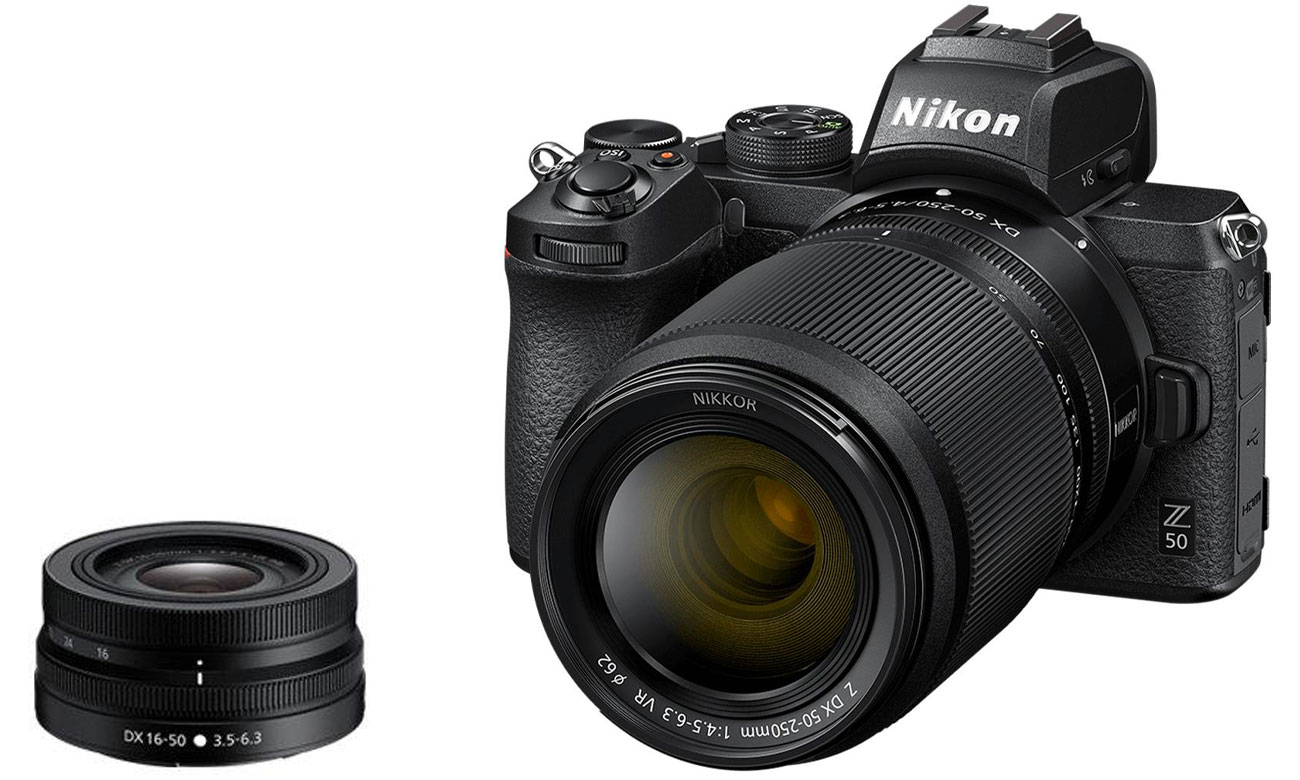Nikon Z 50 + Nikkor Z DX 16-50 VR + 50-250 VR