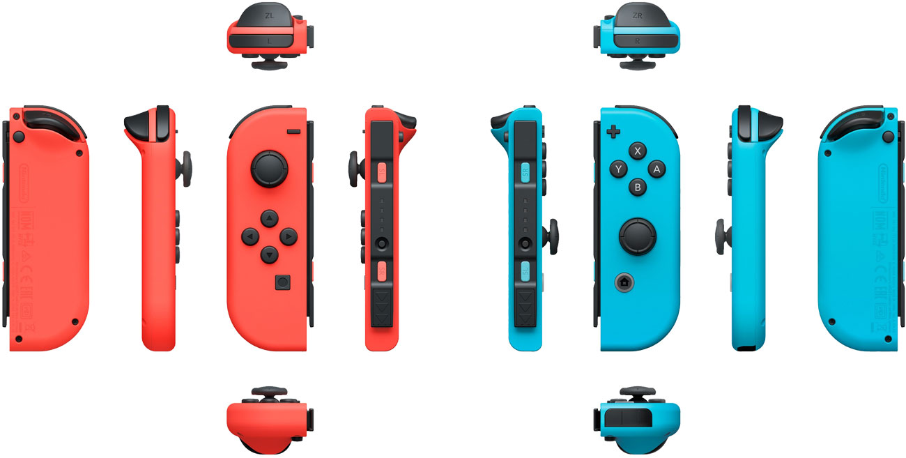 Nintendo Switch Kontrolery Joy-Con Neon Red/Neon Blue