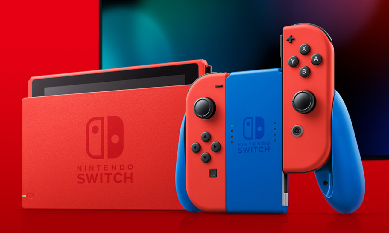 Nintendo Switch Red/Blue Mario Edition - Gra na TV