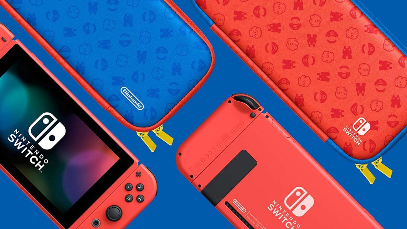 Nintendo Switch Red/Blue Mario Edition - Konsola i etui