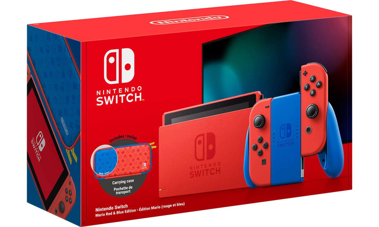 Nintendo Switch Red/Blue Mario Edition - Box
