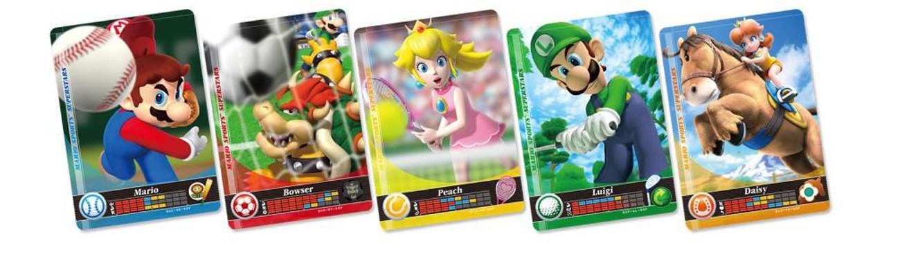 5 Kart amiibo Mario Sports Superstars