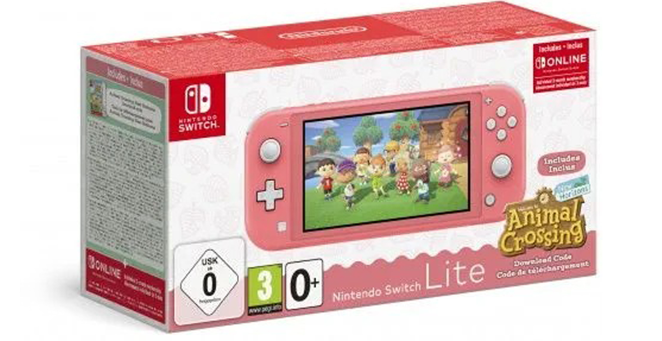 Zestaw Nintendo Switch Lite + Animal Crossing: NH + Abonament NSO 3 msc
