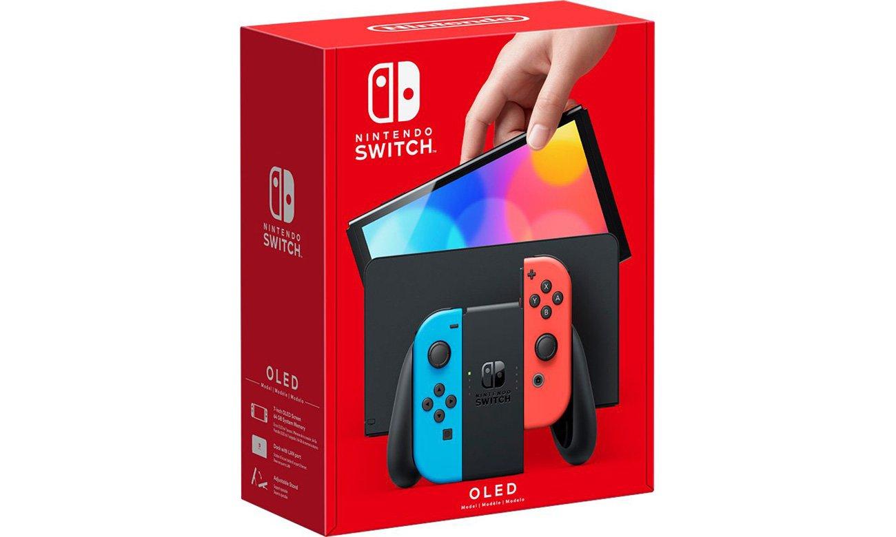Konsola Nintendo Switch OLED - Czerwony / Niebieski