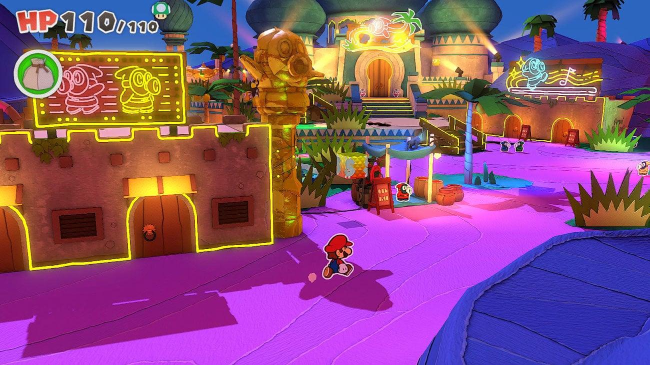 Walcz ze Składanymi Żołnierzami w grze Paper Mario: Origami King na Nintendo Switch / Mario Origami / Mario Origami King / Paper Mario Origami / NS