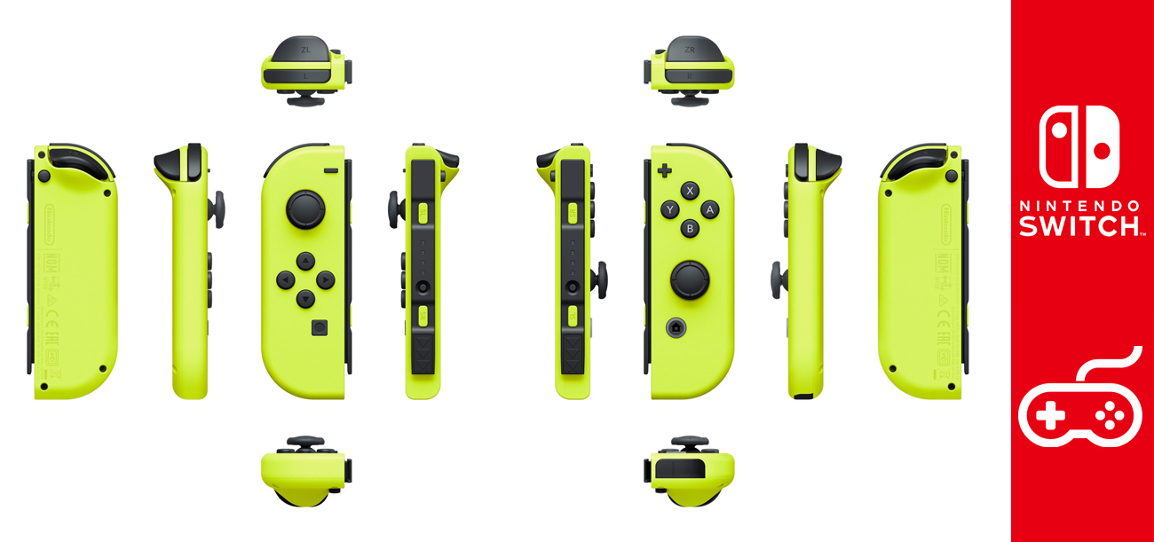 Nintendo Switch Kontrolery Joy-Con Zestaw Neon Yellow