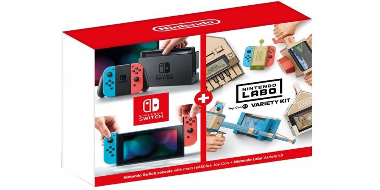 Nintendo Switch + Akcesoria Nintendo Labo Variety Kit