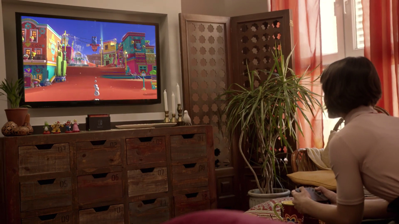 Konsola Nintendo Switch Czerwono-Niebieski Joy-Con Graj w domu