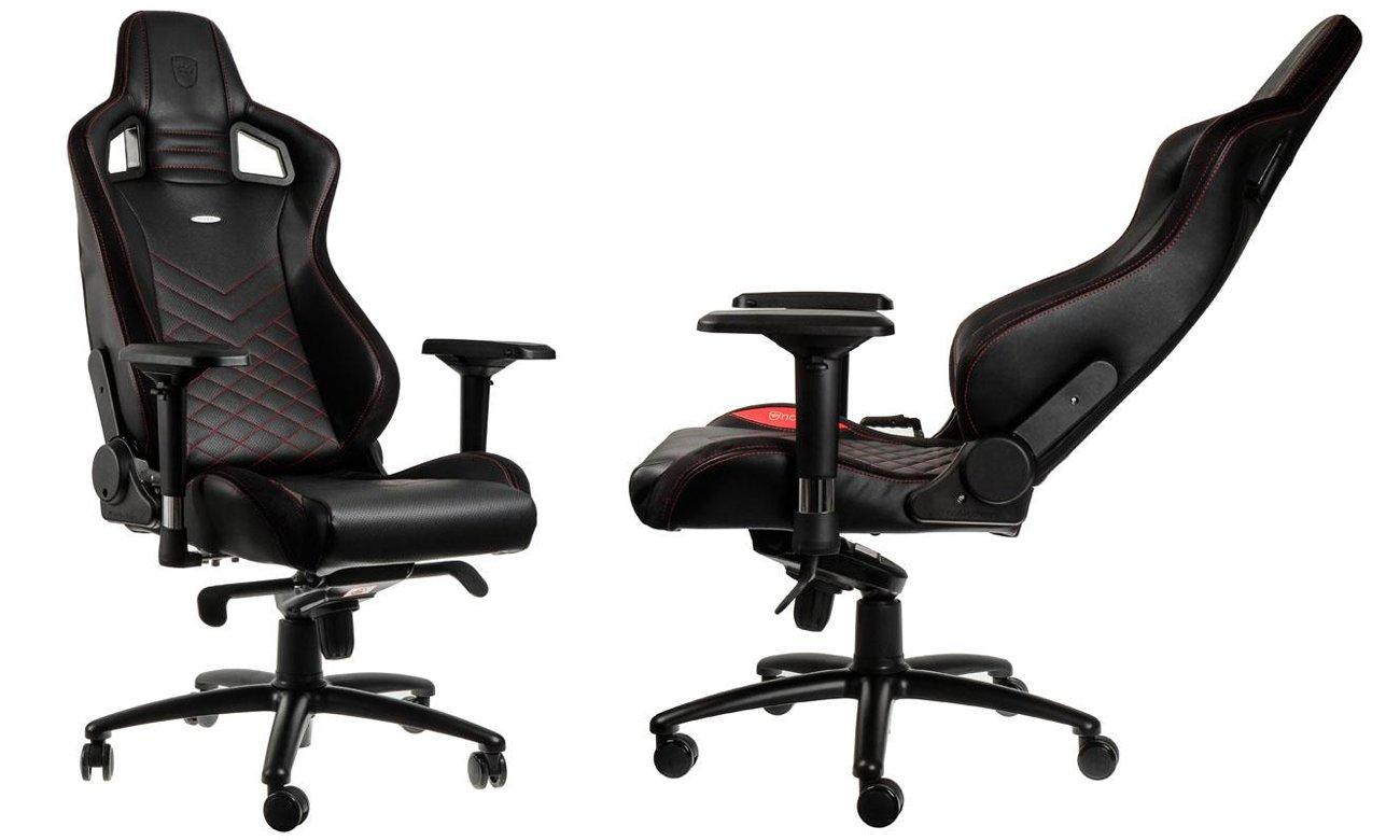 Fotel noblechairs EPIC Gaming Czarno-czerwony Przód bok