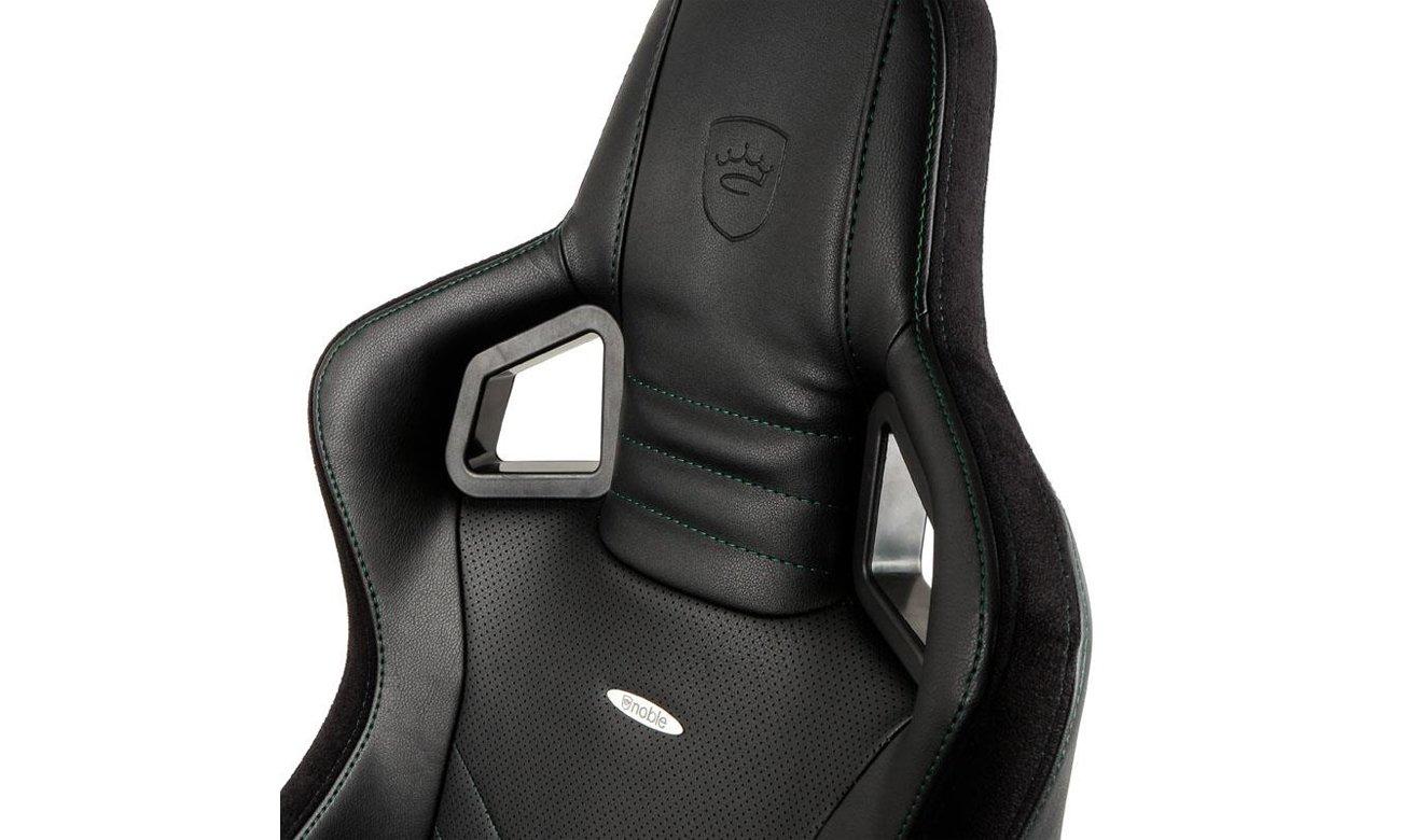 Fotel noblechairs EPIC Gaming Czarno-zielony Oparcie