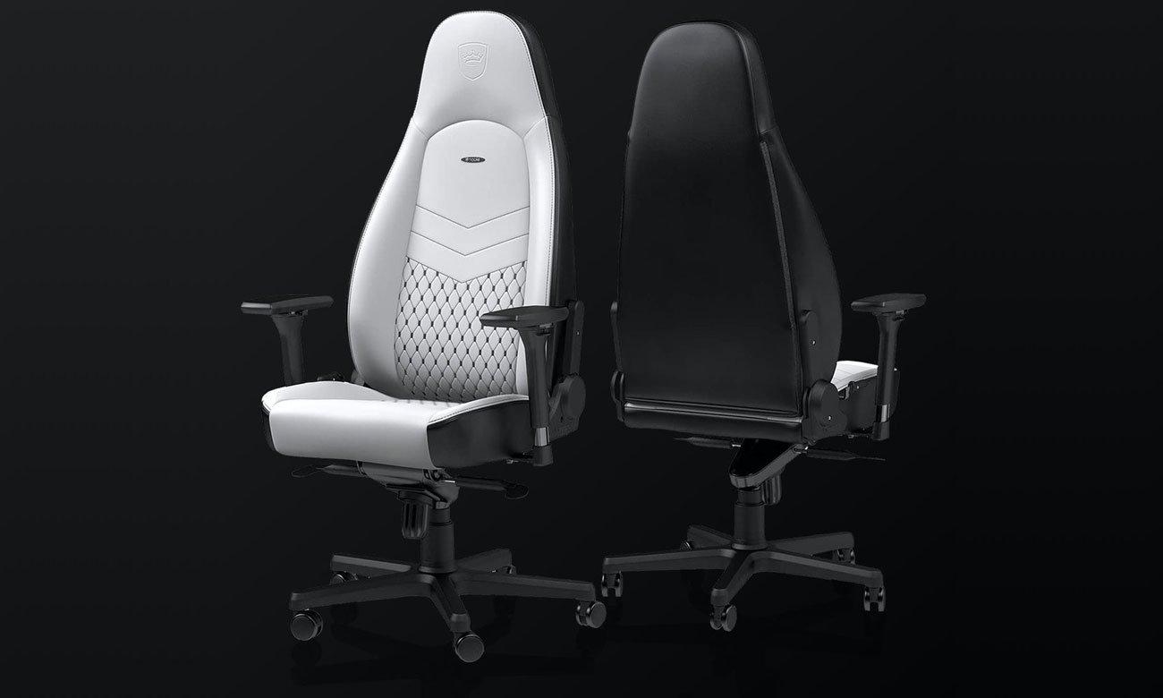 Fotel gamingowy noblechairs ICON Biało-Czarny