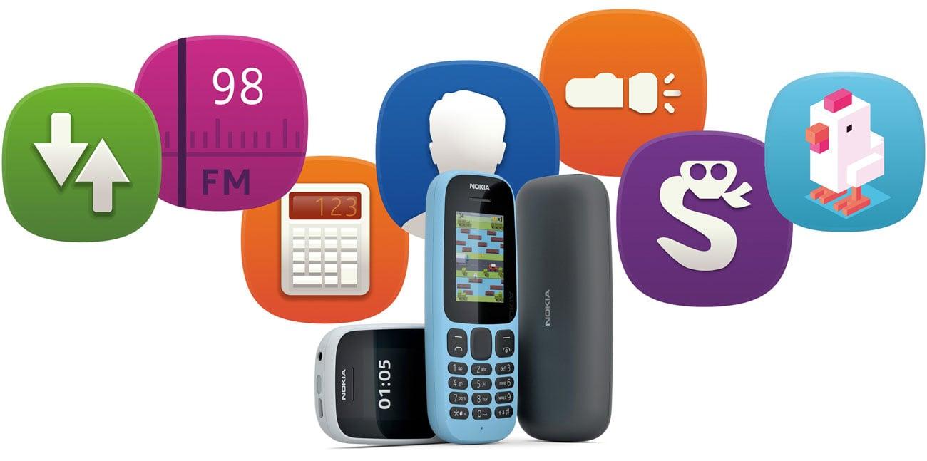 Nokia 105 (2017) Dual SIM radio fm wytrzymała obudowa latarka