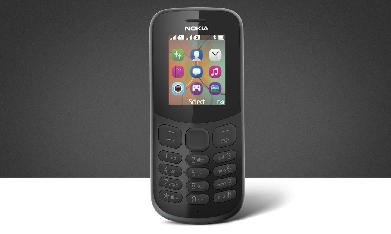 Nokia 130 2017 Dual SIM wytrzymała biała obudowa