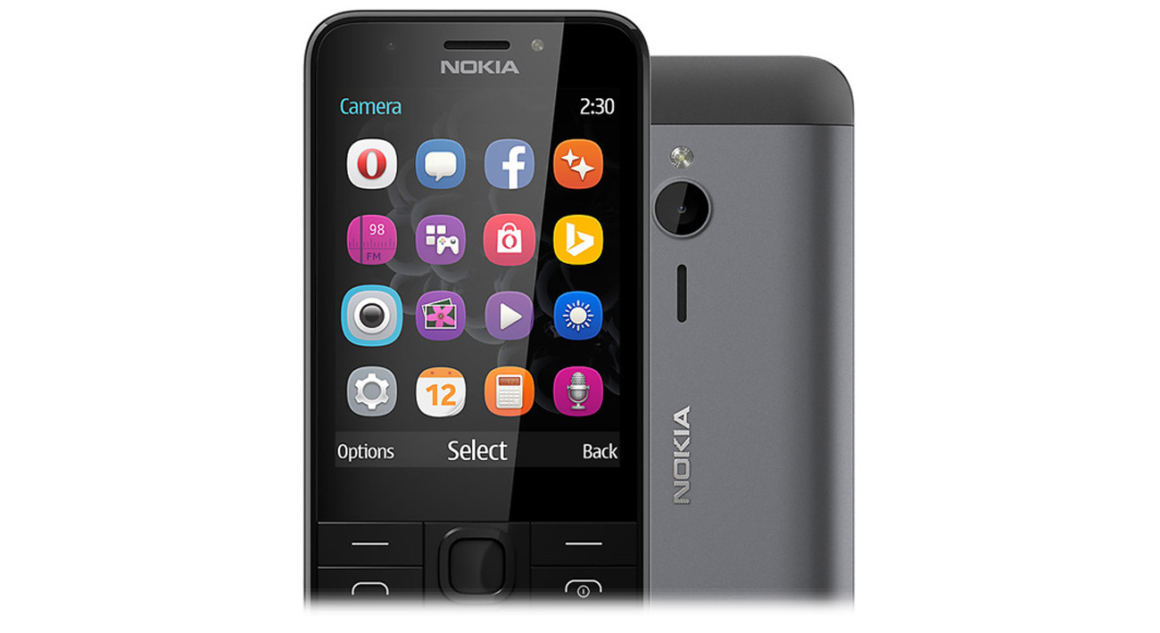 Nokia 230 Dual SIM szary aluminiowa obudowa