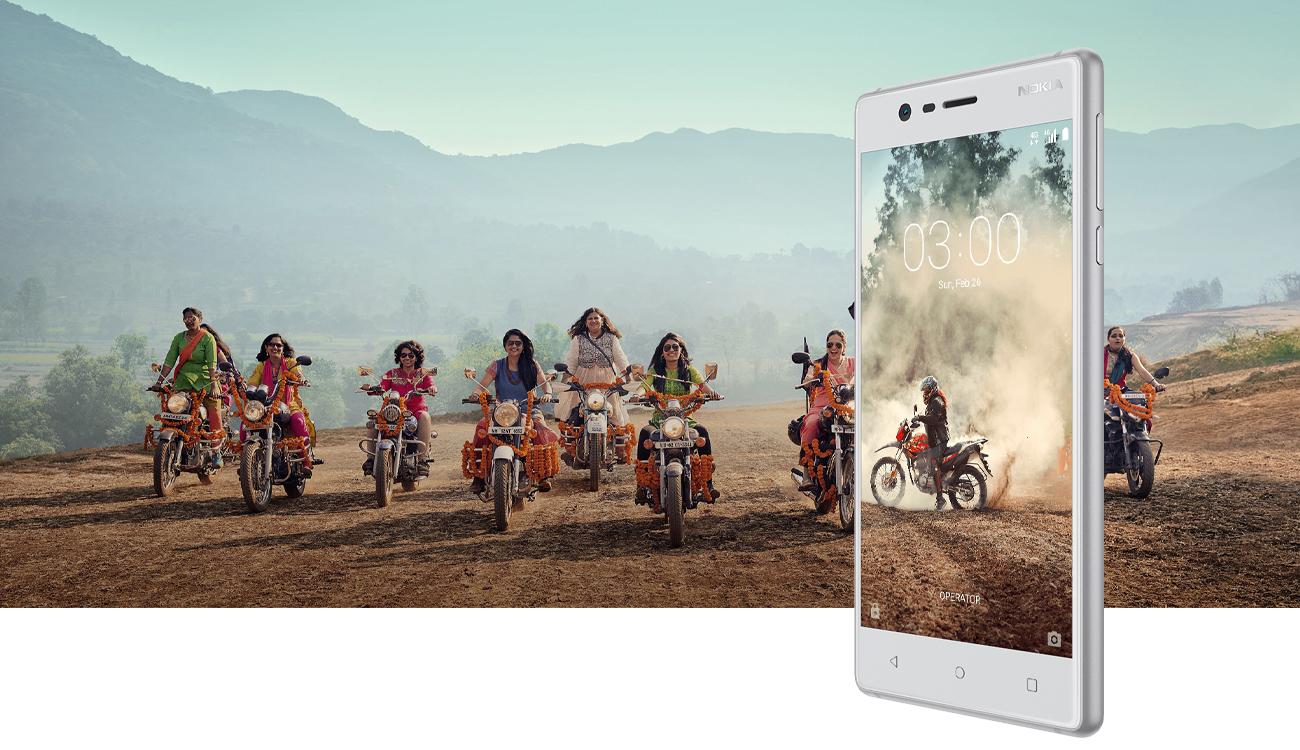 Miedziany biały Nokia 3 Dual SIM stylowa ergonomiczna obudowa