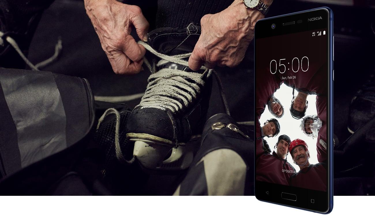 Czarny Nokia 5 Dual SIM stylowa aluminiowa obudowa