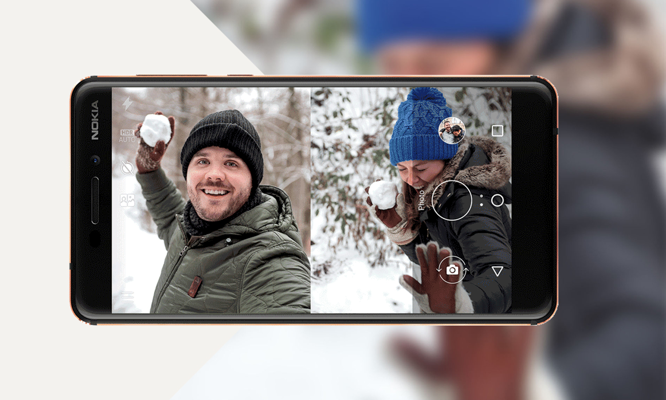Nokia 6.1 selfie kamera 8 mpix dual sight