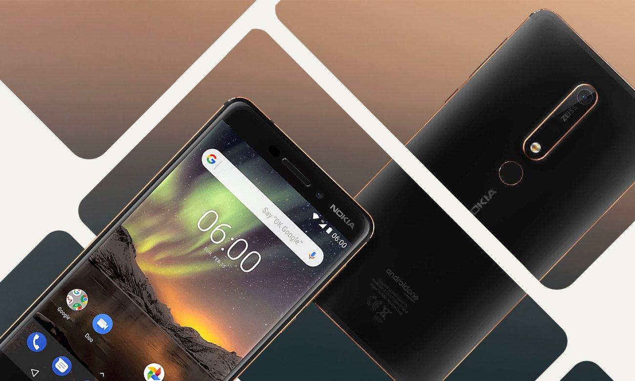 Nokia 6.1 dwa mikrofony OZO audio