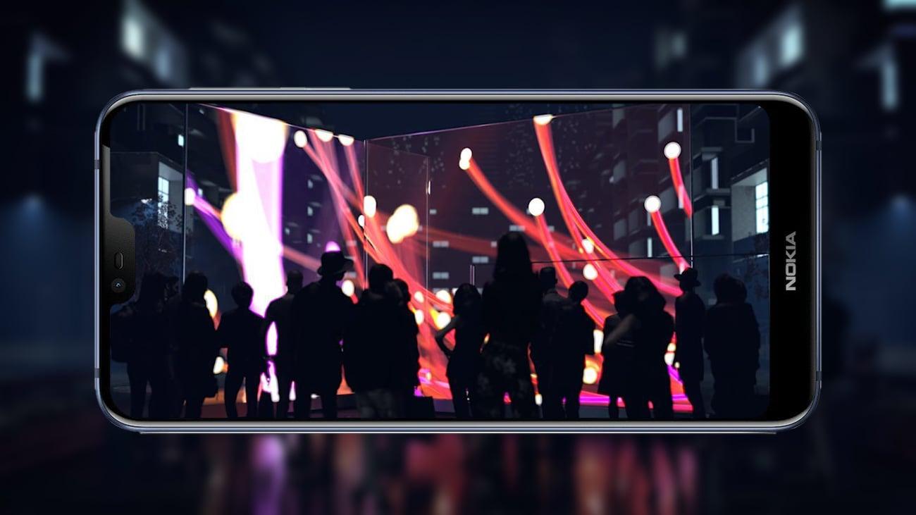 Nokia 7.1 panoramiczny ekran puredisplay