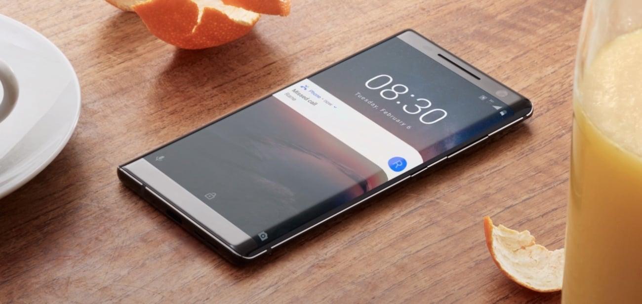 Nokia 8 Sirocco metalowa obudowa szklany ekran edge