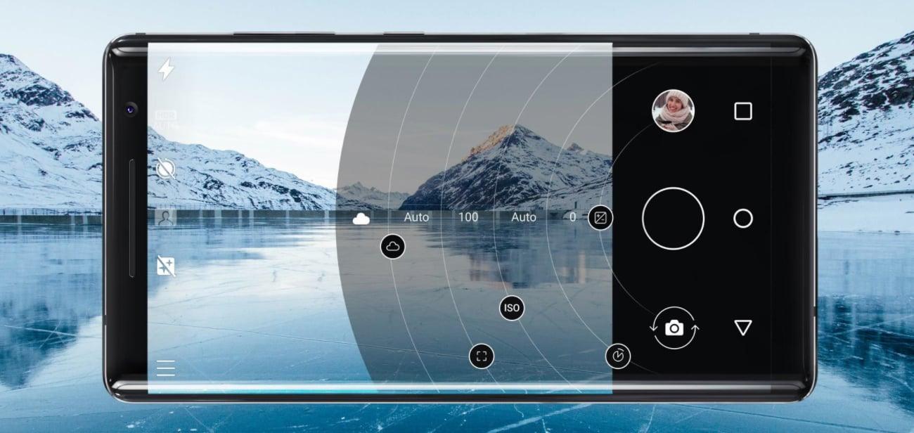 Nokia 8 Sirocco aparat 12 mpix z optyką zeiss