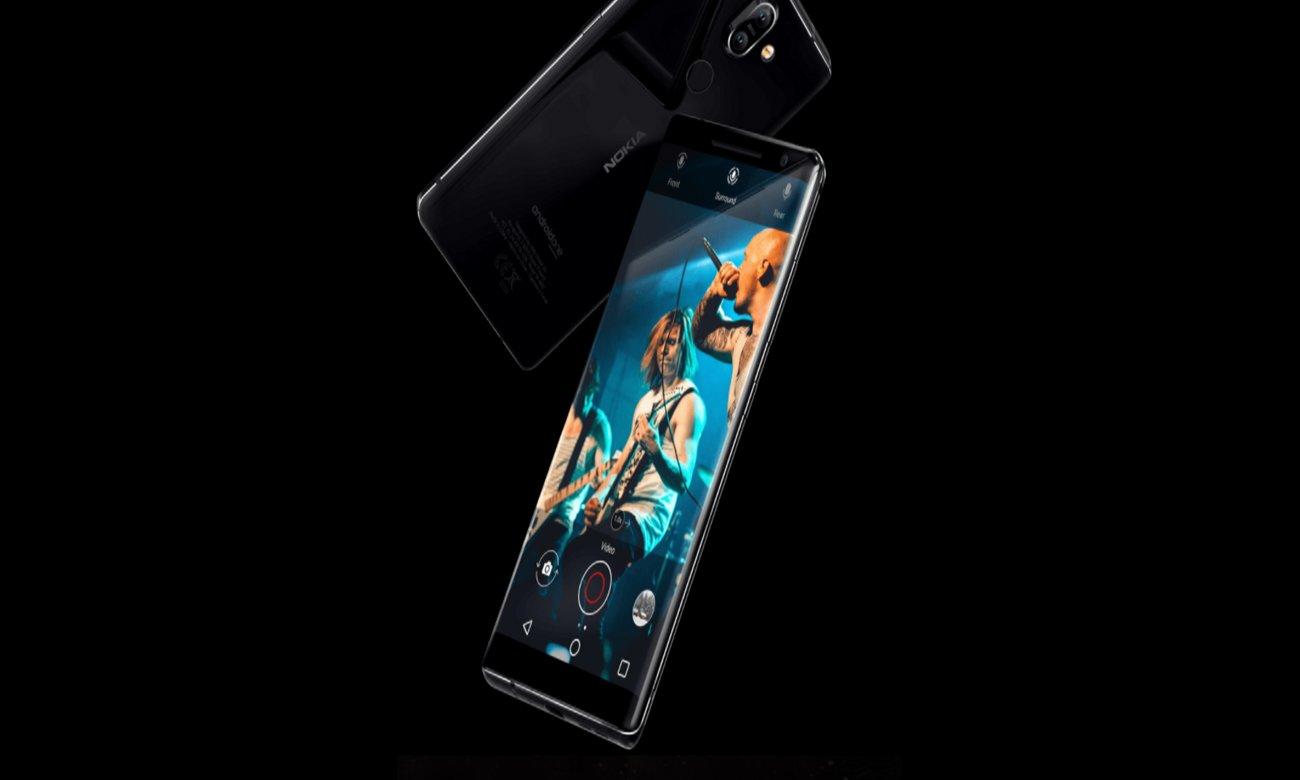 Nokia 8 Sirocco 3 mikrofony z redukcja szumów