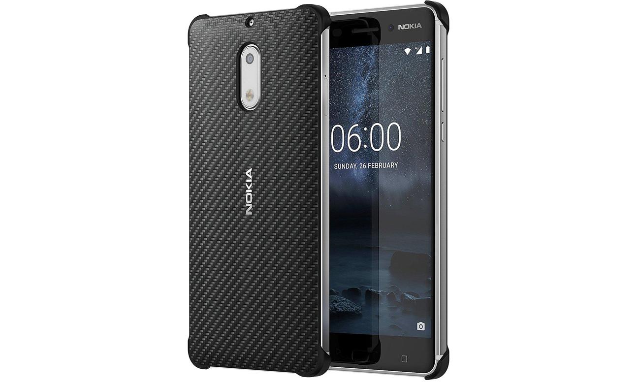 factory price 90d62 a4ae5 Nokia Carbon Fibre Design Case do Nokia 6 Onyx Black