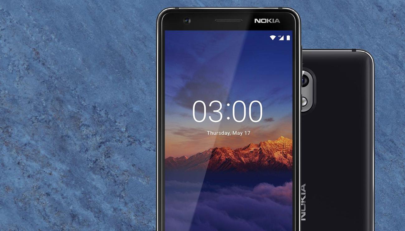 Nokia 3.1 atrakcyjny design metalowa konstrukcja
