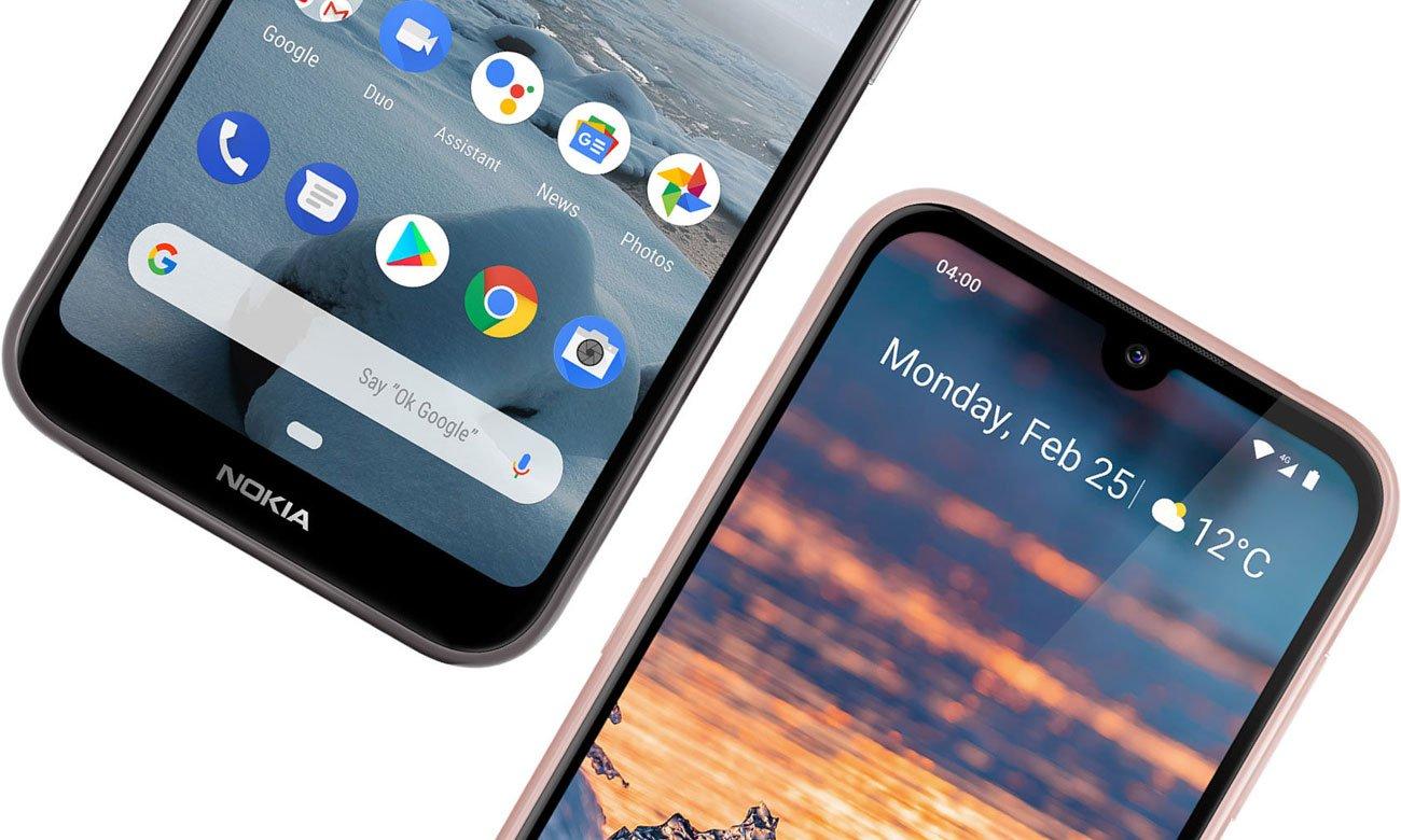 Nokia 4.2 smukła konstrukcja z profilowanego szkła