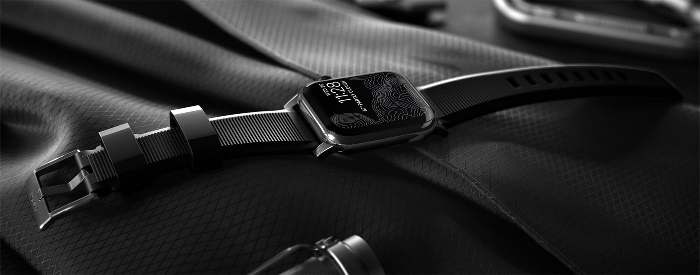 Nomad Pasek Sportowy Rugged do Apple Watch czarny NM1A31BN00