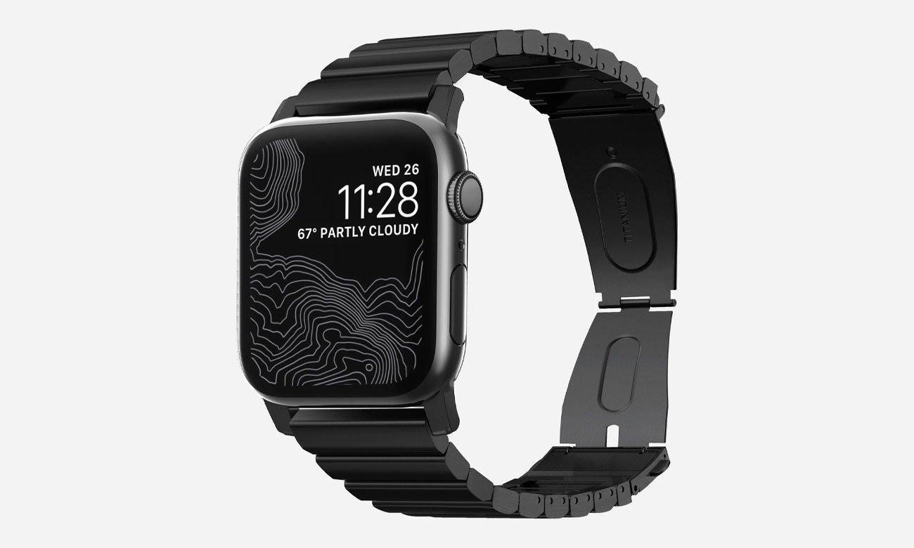 Nomad Bransoleta Tytanowa do Apple Watch 42/44mm Black NM1A44B000