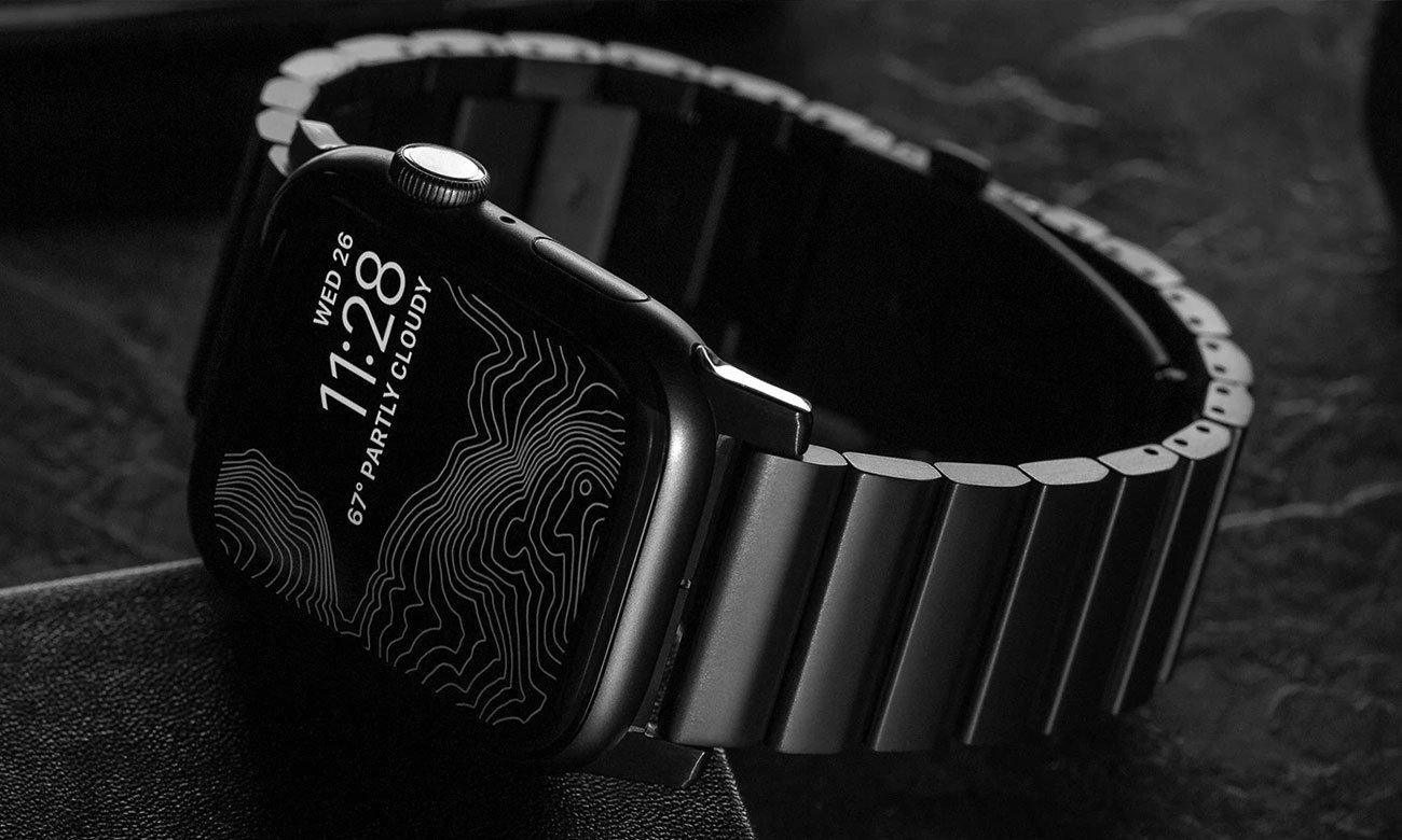 Bransoleta Tytanowa Nomad do Apple Watch - Metal