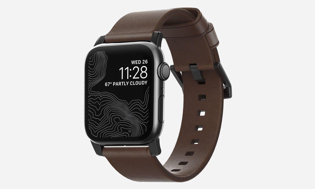 Nomad Pasek Skórzany do Apple Watch 42/44mm Brown Black NM1A4RBM00