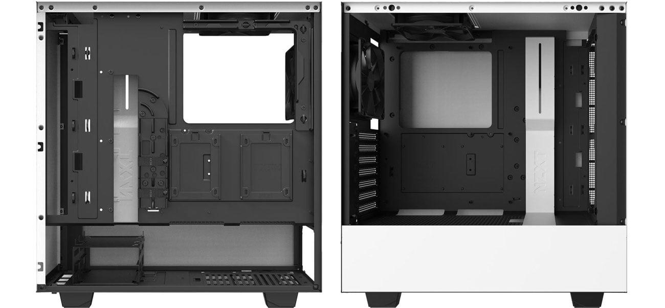 NZXT H510 White - Wnętrze