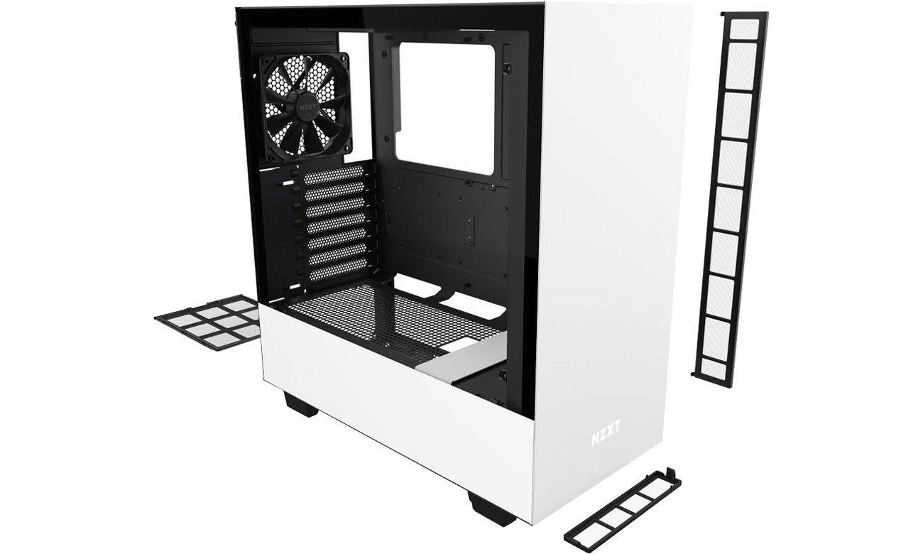 NZXT H510 White - Chłodzenie