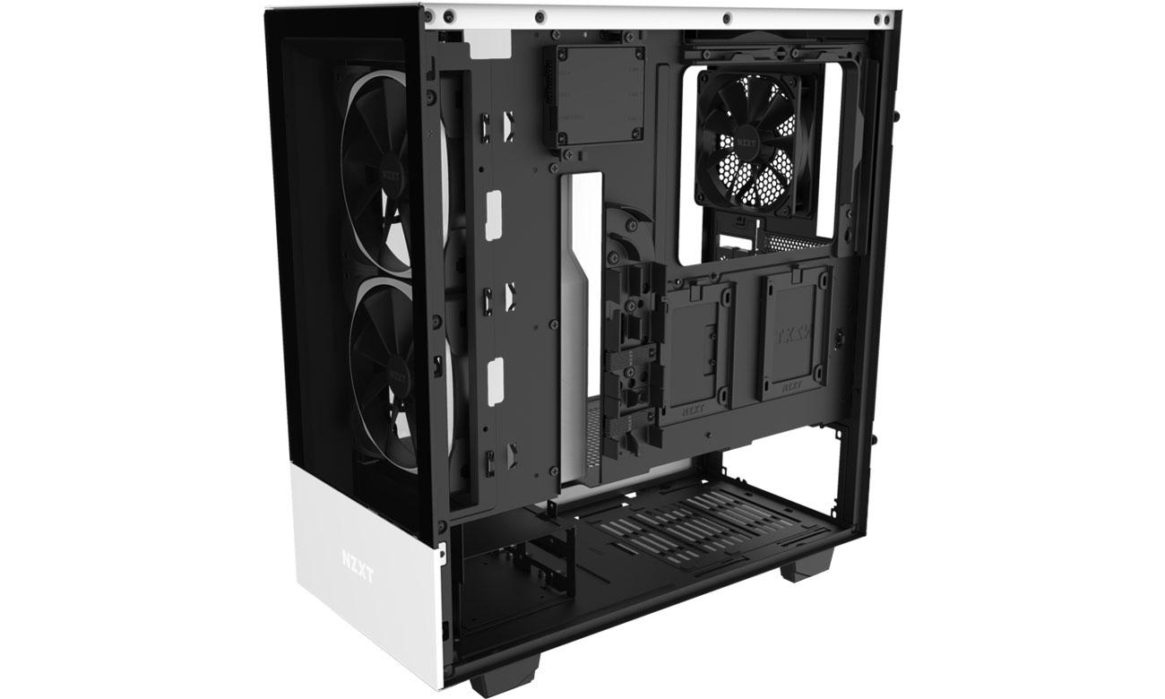 NZXT H510 Elite White - Wnętrze