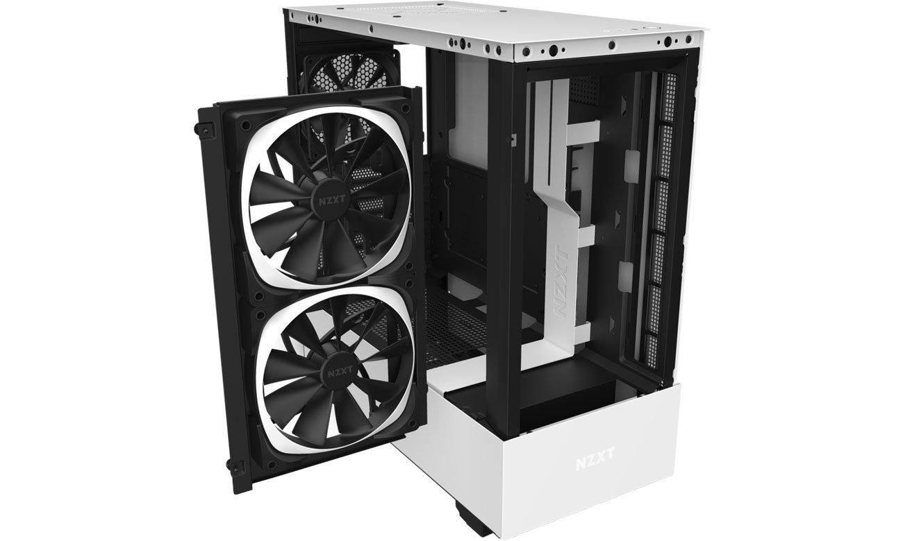 NZXT H510 Elite White - Chłodzenie