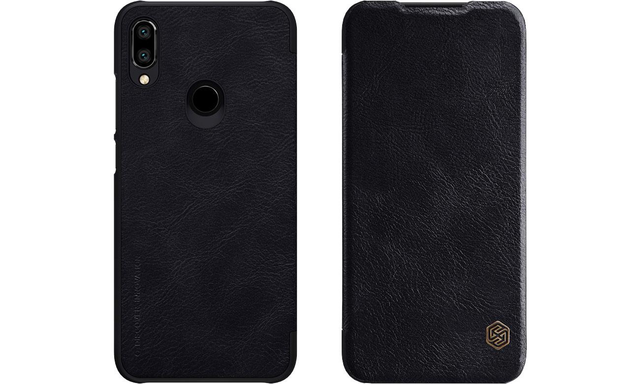 Etui Skórzane Qin do Xiaomi Redmi Note 7 czarny