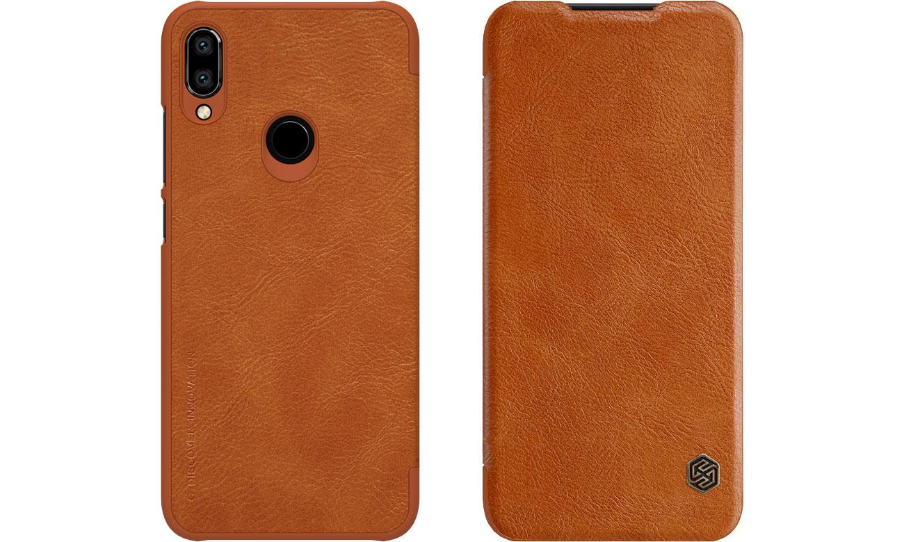 Etui Skórzane Qin do Xiaomi Redmi Note 7 brązowy