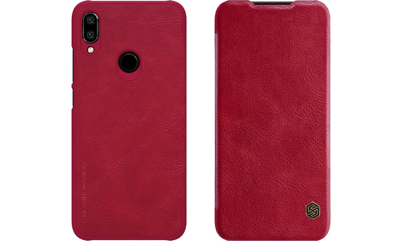 Etui Skórzane Qin do Xiaomi Redmi Note 7 czerwony